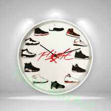 """New Handcrafted 12"""" 2D Jordan Sneakers clock OFF white nike supreme AF1 yeezy"""