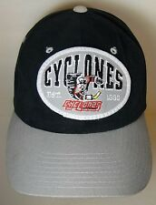 Vtg 1990s CINCINNATI CYCLONES Hockey Advertising Patch SNAPBACK HAT LEE SPORT