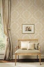 Wallpaper French Looking Raised Ink Damask  Silver / Gray / Deep Sand Tan