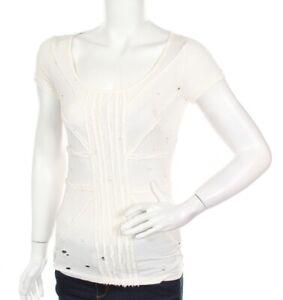 NEW RICHMOND DENIM Women's Cut Ecru T-shirt Top Size M/L