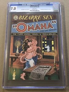 🔥 Bizarre Sex # 9 CGC 7.0 White 1st Print 1st Appearance Omaha the Cat Dancer🔥