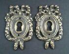 2 Vintage Antique Style Ornate French Eschutcheons Key Hole Covers 2 1 2   E13