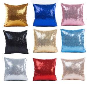 "15.7"" Glitter Sequin Pillow Cover Waist Throw Sofa Cushion Case Home Decoration"