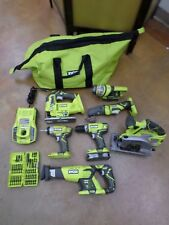 RYOBI 18V ONE+ 7 Piece Tool Set W/ 2 Batteries, Drill Bit Set and Charger