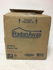 RadonAway GP501 Radon Fan water Hardened Thermally Protected Quiet Noise Free