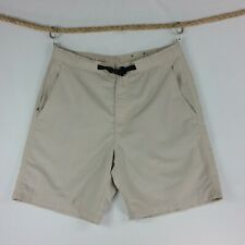 St.Johns Bay Mens Bermuda Shorts 36 Khaki Elastic Adjustable Waist Cooling