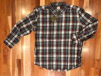 New Filson Lightweight Sutter Sport Shirt Plaid Long Sleeve Large XL 2XL $98