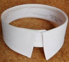 "Vintage starched shirt collar size 15"" officer's detachable stiff dress RMM No 1"