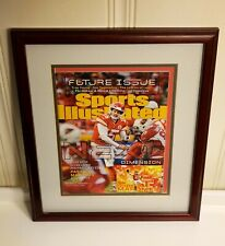 Mahomes KANSAS CITY CHIEFS framed Sports Illustrated with football card enclosed