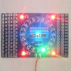DIY Kits CD4017+ NE555 Rotating LED SMD Soldering Practice Skill Training Board
