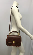 BARRY KIESELSTEIN CORD LEATHER PURSE BROWN GOLD LABRADOR DOG 1991 CASE MIRROR