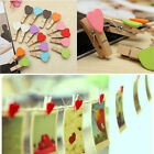 New 10Pcs Lovely Wooden Mini Clip Wood Pegs Kids Crafts Novel Party Favor Supply