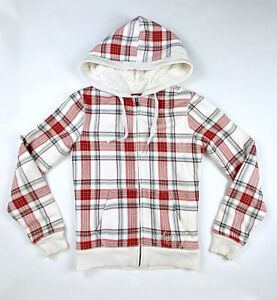 Aeropostale Women's Fleece Jacket hoodie Size Medium ,faux fur lined ,Zip-Up