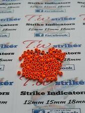 3.2mm brass beads florescent orange  x100 fly tying materials