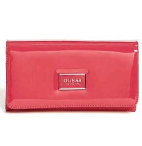 Guess Abree Carryall Wallet Check Organizer/Phone Wallet Popping Pink OO602653