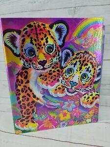 Lisa Frank 3 Ring Binder Shimmery Rainbow Leopard Cheetahs