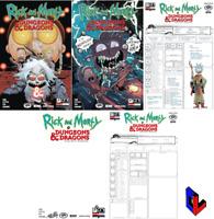 RICK & MORTY VS D&D II PAINSCAPE #1 A - B - 1:10 - D - 1:15 All Covers ONI Press