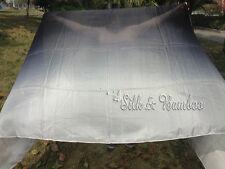 "black-white 3yd*45"" belly dance silk veil+bag, light 5mm silk, edges rolled"