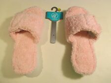 BRAND NEW DEARFOAMS Pink Plush Slippers~Large 9-10