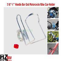 Silver Handlebar Bottle Drink Holder Fits Honda Goldwing 1100 1200 1500 1800 GL