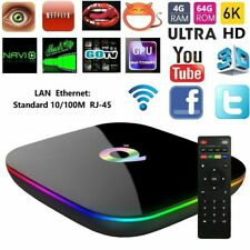 SMART TV BOX Q-PLUS ANDROID PIE 10.0 4GB RAM 64GB 6K WIFI DAZN NEW