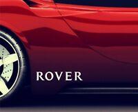 2x Seitenaufkleber Aufkleber Passt Rover 75 Sticker Emblem Logo ER86