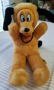 """Vintage Disney World Productions Plush PLUTO 14"""" Rubber Face Made in Japan"""