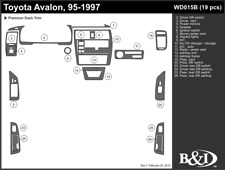 TOYOTA AVALON 1995 1996 1997 DASH TRIM KIT b