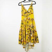 Sheike Women's Size 10 Yellow High Low Dress
