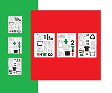 IKEA Dalliden Home Organization Decal Laundry Recycle Stickers Set 3 Sheet NEW