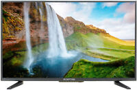 "Sceptre 32"" Class 720P HD LED TV X322BV-SR Remote Control Wall-mountable Clear"