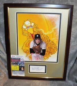 "Mark Fidrych ""The Bird"" Autographed Index Card Matted & Framed 12""x16"" JSA COA"