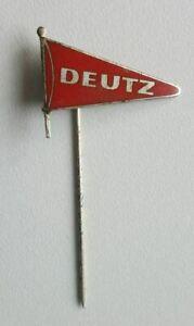 """DEUTZ """"Flagge"""" Abzeichen Anstecknadel stick pin badge emailliert 1950er Jahre"""