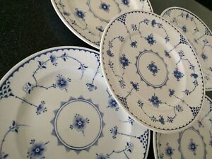 Vintage FURNIVALS ( BLUE ) DENMARK DINNER PLATES PLATE  ENGLAND