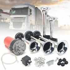 12V 5 Trumpet dixie horn Horn Compressor Car Truck Boat Chrome UK LOCAL