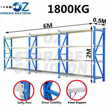 Garage Shelving Longspan Shelving Rack Warehouse Storage Shelves 2M x 6M x 0.5M