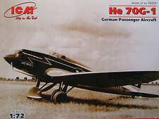 ICM 1/72 Heinkel He 70 G-1 Passenger # 72233