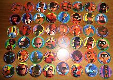 POGS - V-INCRED 48 001 Lot de 48 Pogs The Incredibles - Les Indestructibles Neuf