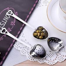 В форме сердца чайное ситечко ложка ситечко из нержавеющей стали, крутой, ручка для душа