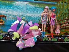 Barbie dolls bundle ( with scooters set)