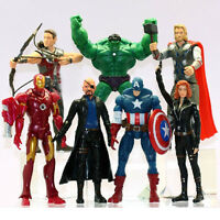7PZAS Los Vengadores Hulk+Capitán América+Black Widow+Iron Man+Thor Figura EU