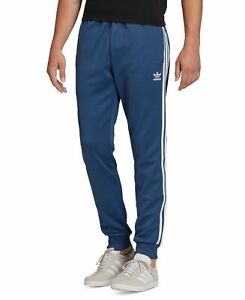 Adidas Mens Dress Pants Blue Size 2XL Three-Stripe Track Jogger Stretch $65 #125