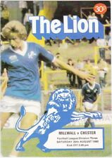 Millwall v Chester 1980 / 81 Division 3 - August 30th