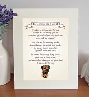 Border Terrier Thank You FROM THE DOG Poem 8 x 10 Picture/10x8 Print Fun Gift