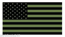 "American Flag sticker die-cut decal 3"" OD GREEN USA US MILITARY GLOSS VINYL"
