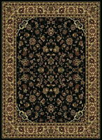 2x8 Runner Radici Black Persian Border 953 Area Rug - Approx 2' 2'' x 7' 7''