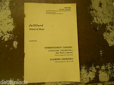 VINTAGE COMMENCEMENT PROGRAM - 1967 - Julliard School of Music