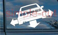 Bas et l'extérieur VW Corrado autocollant BUB VW Euro position basse & out abaissé autocollant