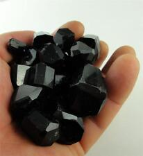 One Pound Lot of Polished Black Schorl Tourmaline Gem Crystal Natural Pakistan