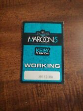 Maroon 5 & Kelly Clarkson 2013 Backstage & Stage Working Pass 😊